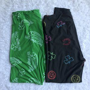 LuLaRoe TC2 St Patricks Day Leggings Lot Of 2 NWOT